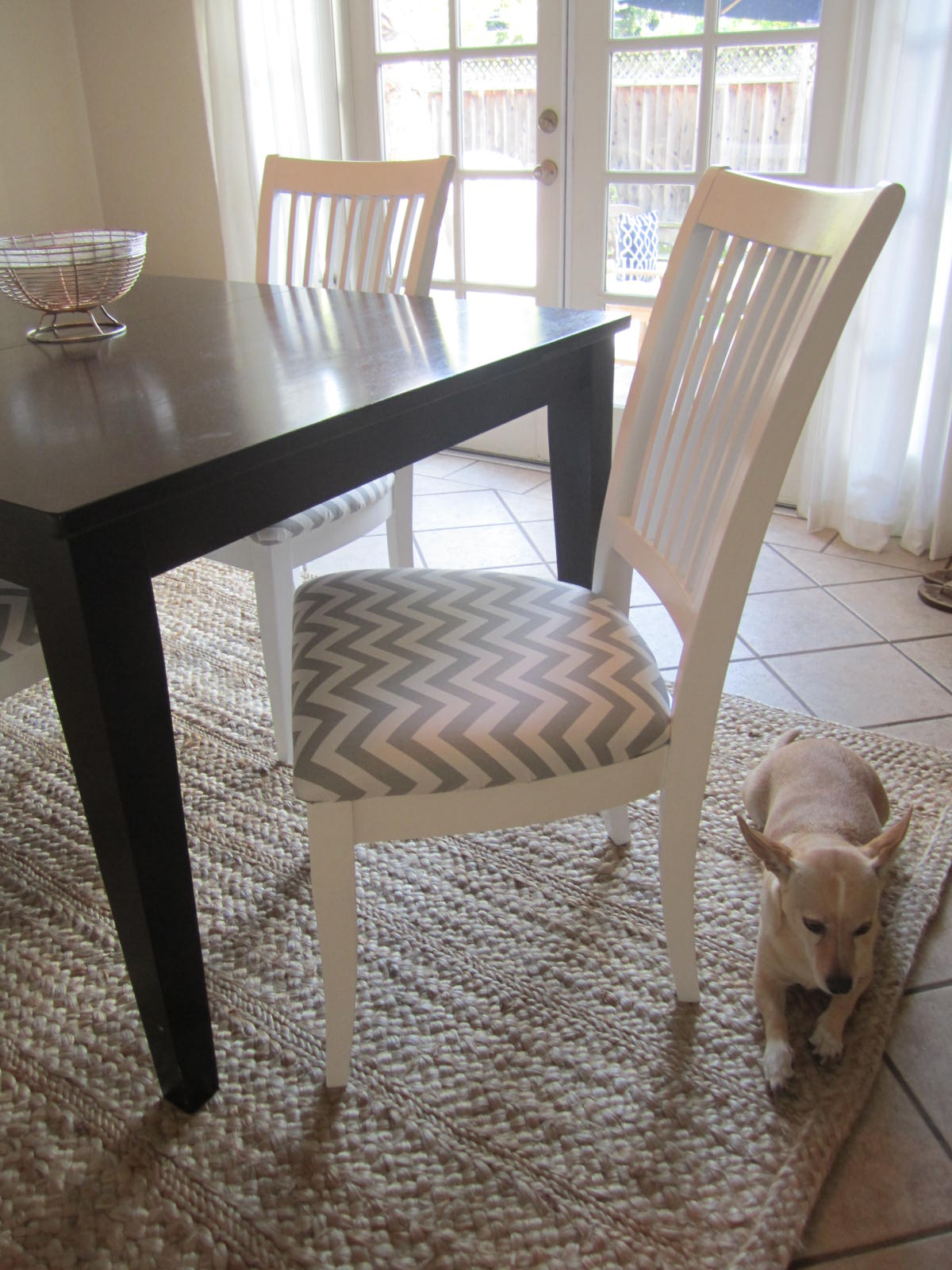 Natural jute rug in dining room | House To Home Blog