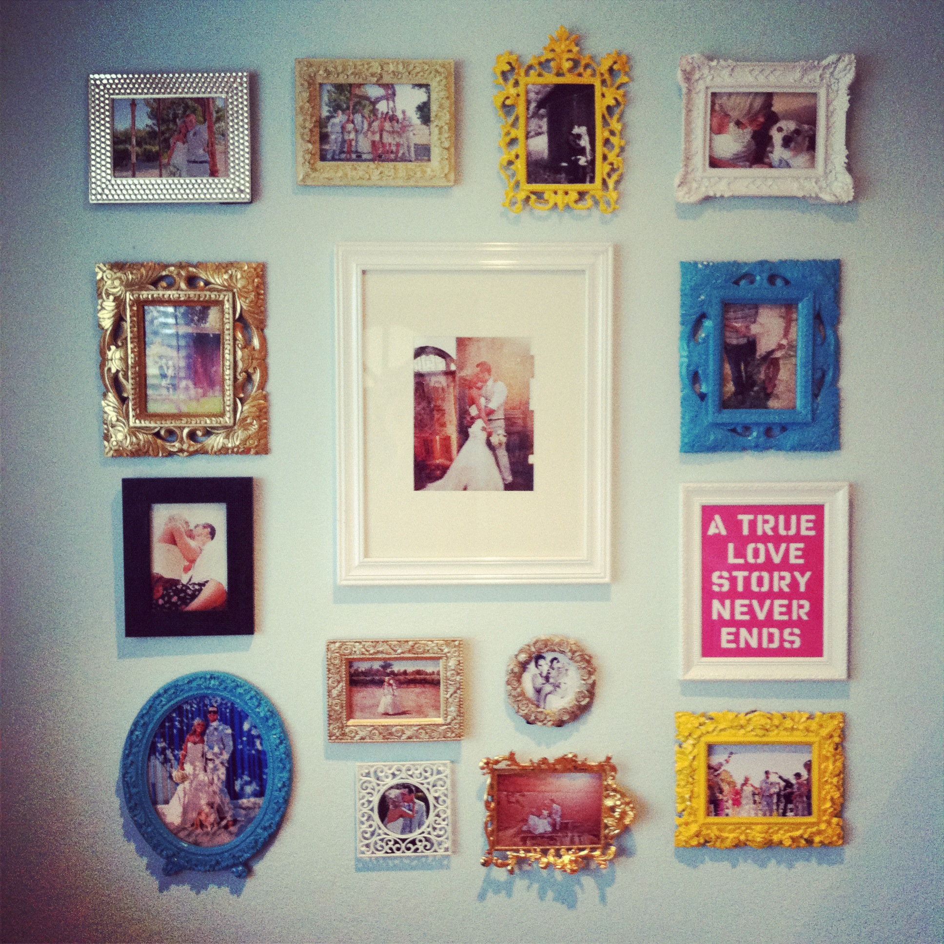 Frame Wall diy picture frame wall | house to home blog