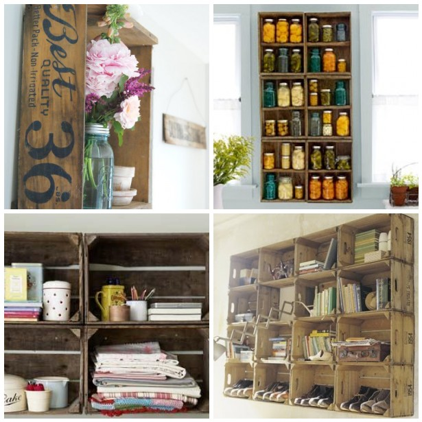 Top 5 Creative Uses For Vintage Wood Crates Design Inspirations