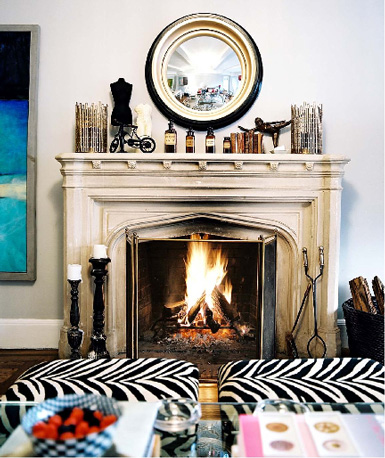 How to decorate the fireplace mantel house to home blog via pinterest teraionfo