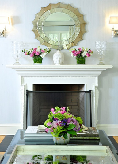 How to decorate the fireplace mantel house to home blog for Over fireplace decor