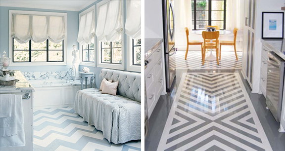 Stenciled Floors House To Home Blog