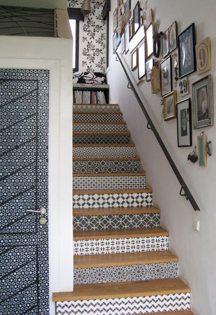 Stencil Stairs House To Home Blog