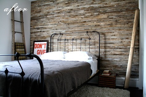 diy wood pallet wall house to home blog. Black Bedroom Furniture Sets. Home Design Ideas
