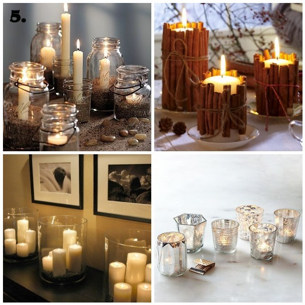 Easy inexpensive christmas tablescape ideas house to for Christmas table decorations using mason jars